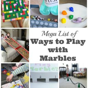 Mega List of Ways to Play with Marbles for Kids