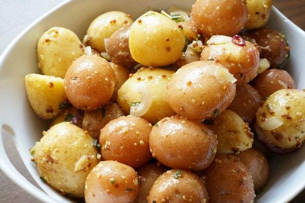 Summer Potato Salad with mustard vinaigrette
