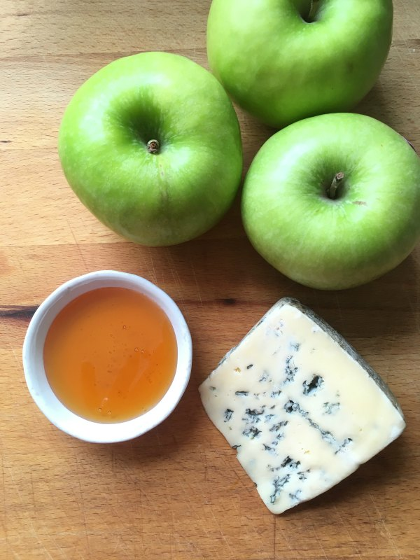 apples and blue cheese