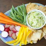 Edamame Hummus with vegetables