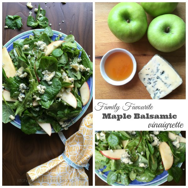 Maple Balsamic Vinaigrette Recipe with apples and blue cheese