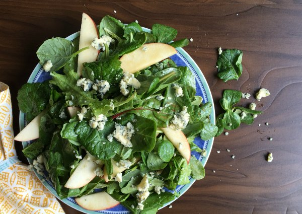 Maple Balsamic Vinaigrette for a crisp season greens salad with apple slices and blue cheese. A family favourite.