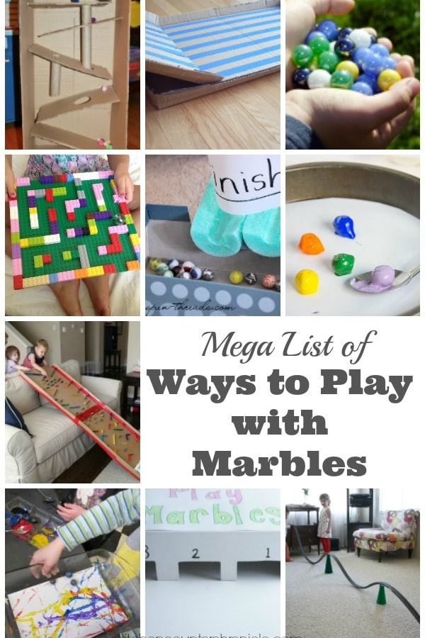 Mega List Ways to Play with Marbles for Kids