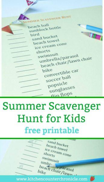 summer scavenger hunt for summer