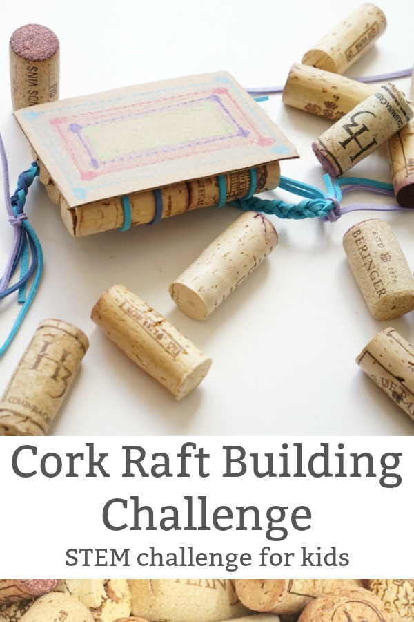 cork raft challenge for kids pin