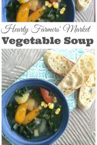 Hearty Farmers' Market Vegetable Soup - Pick up the vegetables at your local market and pull together a hearty vegetable soup that your entire family will love | Vegetable Soup Recipe | Family Friendly Recipe | Soup Recipe |