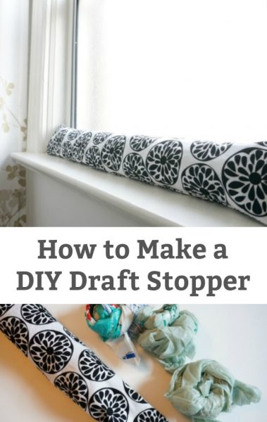 How to Make a DIY Draft Stopper - A simple way to save money, keep your house warm and save energy - Make your own window or door draft stopper. | #greenliving #simplesewingproject #draftstopper