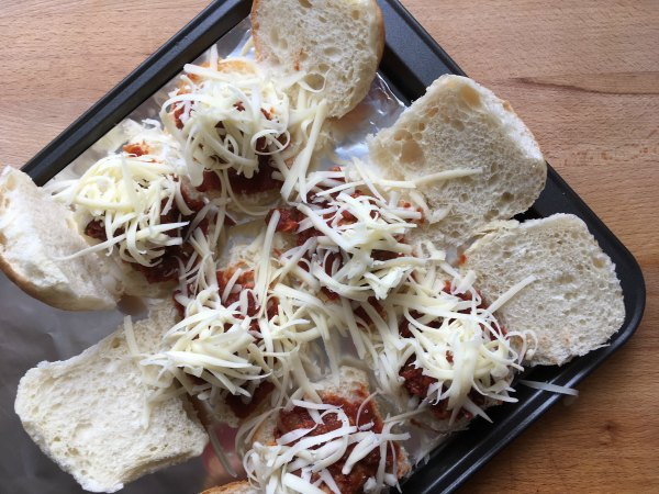 Joey's Meatball Sliders with cheese