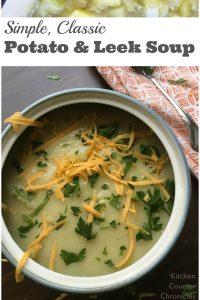 Deliciously simple potato and leek soup - Not sure what to make for ...