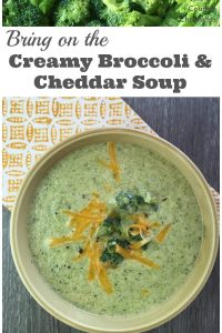 Creamy Broccoli and Cheddar Soup - A deliciously simple recipe that the entire family will love. Using reduced fat cream and vegetable stock makes this soup a healthy dinner option | Vegetarian Recipe | Family Dinner Recipe | Soup Recipe | Broccoli Recipe |