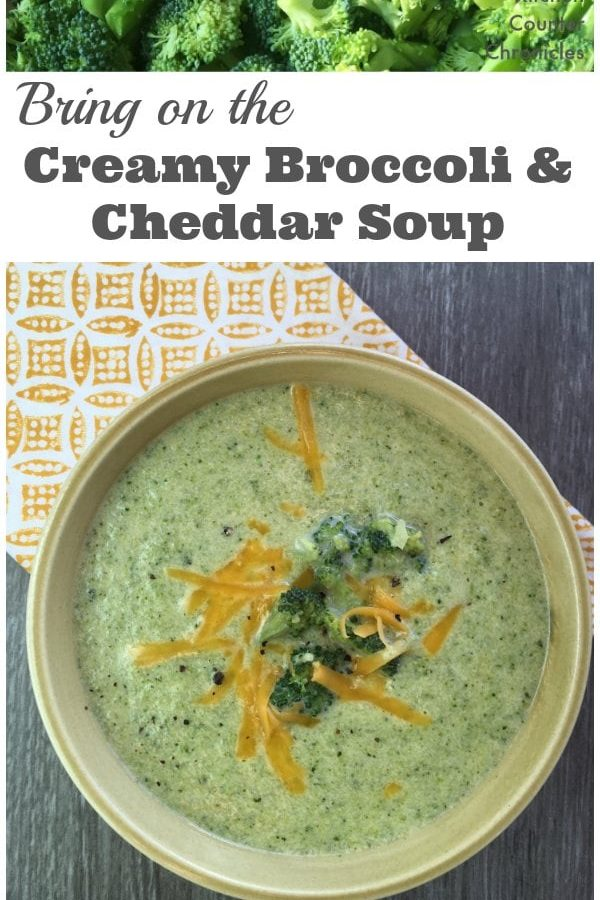 Bring On the Creamy Broccoli and Cheddar Soup