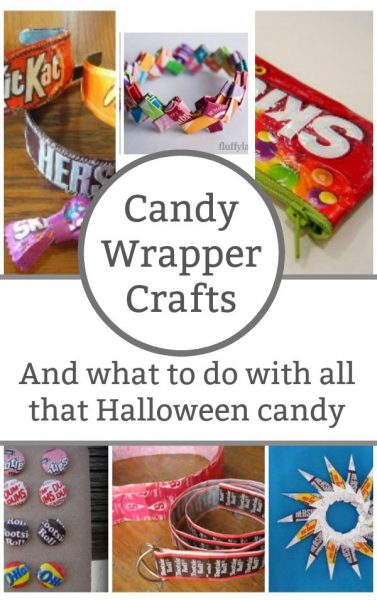 Candy Wrapper Crafts - Don't throw away those Halloween candy wrappers, keep them and use them to make these clever crafts. | Halloween Craft for Kids | Recycled Crafts | Jewelry Crafts for Kids | Tween Craft Ideas |