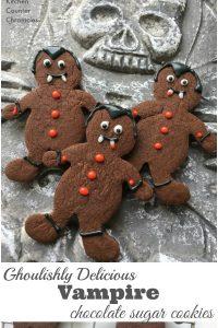Vampire Chocolate Sugar Cookie