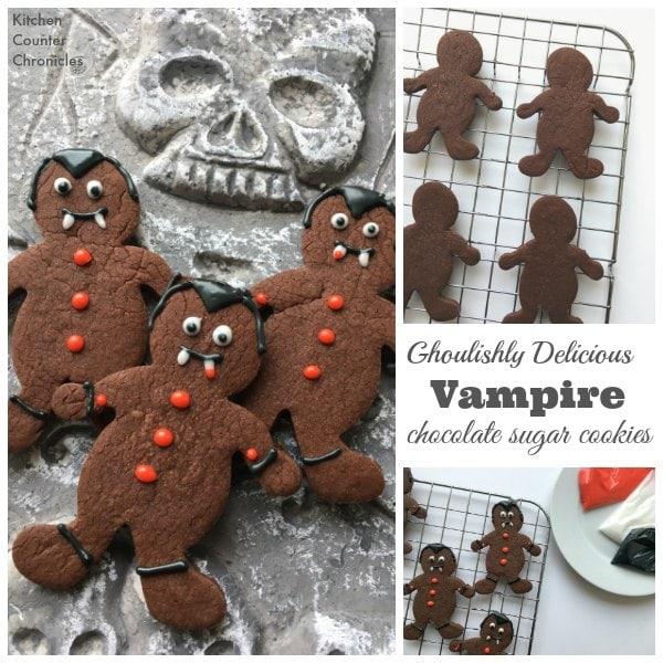 Vampire Chocolate Sugar Cookies