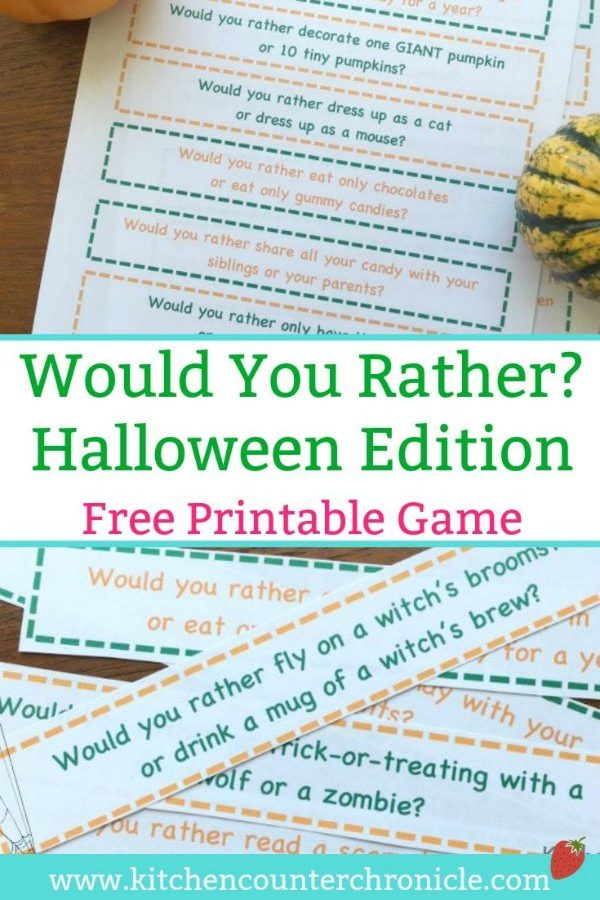 would you rather halloween edition for families