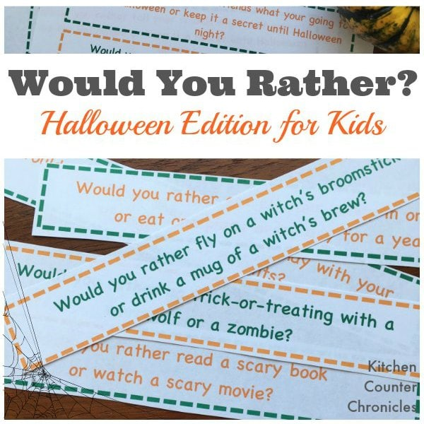 Would You Rather Halloween Edition for Kids