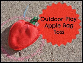 apple bean bag toss game