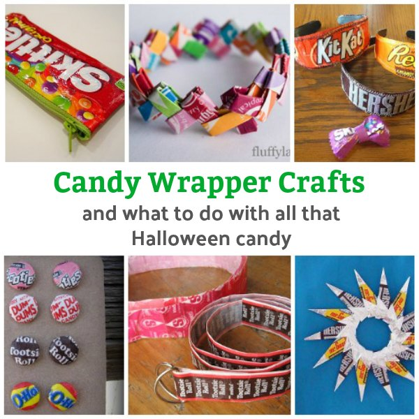 Candy wrapper crafts - What to do with all that Halloween Candy