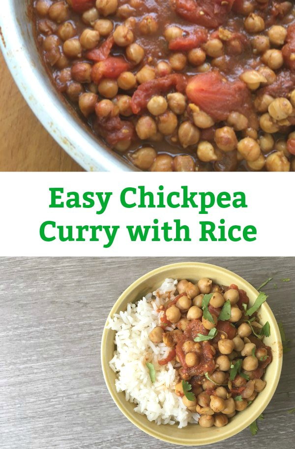 easy chickpea curry with rice
