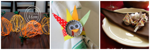 thanksgiving table crafts that kids can make