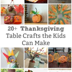 thanksgiving table crafts for kids to make