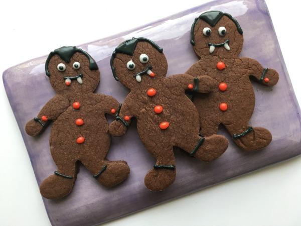 vampire cookies on tray