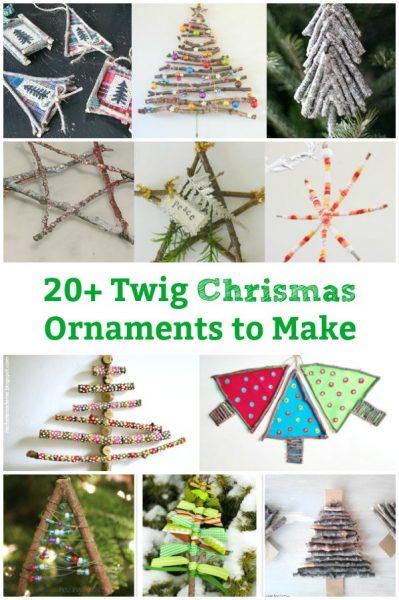 20 Handmade twig christmas ornaments to make