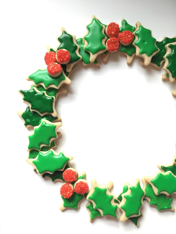 Christmas Sugar Cookie Wreath
