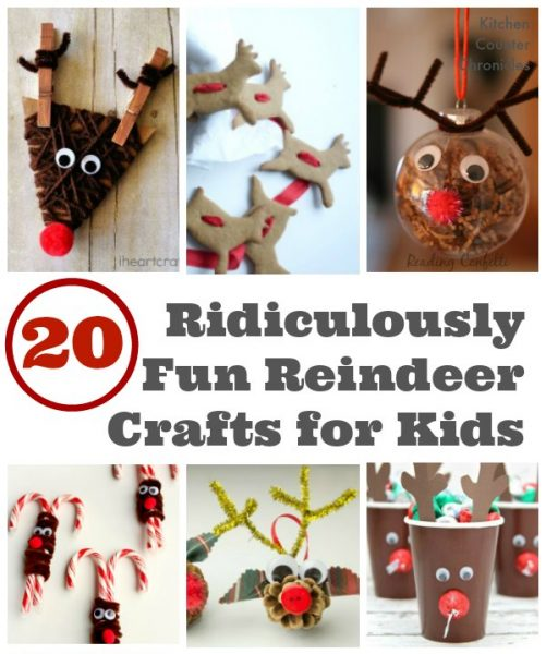 Fun Reindeer Crafts for Kids social