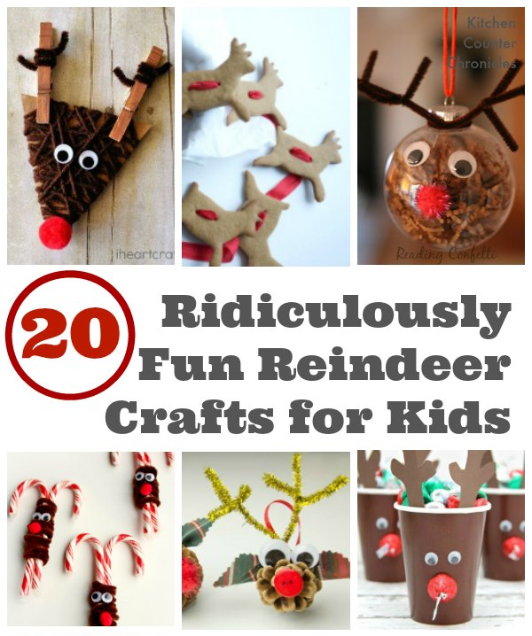 Fun Reindeer Crafts for Kids social