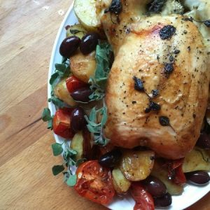 Greek Style Oven Roasted Chicken