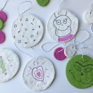 Grinch Salt Dough Ornaments