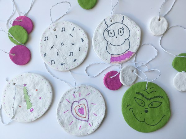 Grinch Salt Dough Ornaments