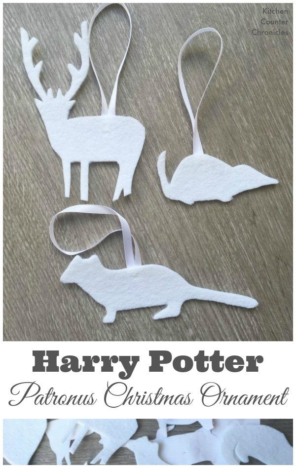 Harry Potter Inspired Patronus Christmas Ornament - We love Harry Potter! We are filling our tree with simple, kid made patronus Christmas ornaments. | Christmas Ornaments | Kid Made Christmas Ornaments | Harry Potter Craft |