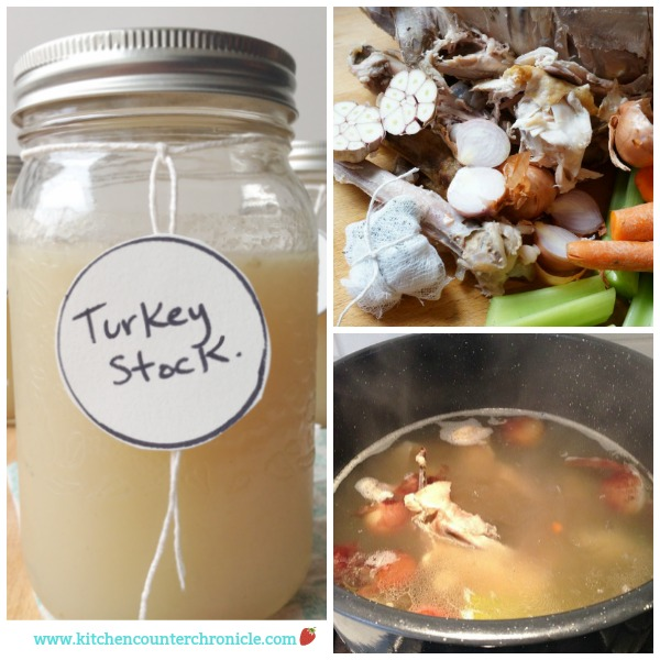 How to Make Turkey Stock - This is a really simple recipe for making turkey stock. Throw everything in and let it simmer. | Thanksgiving Recipe | Turkey Recipe | Christmas Turkey Recipe |