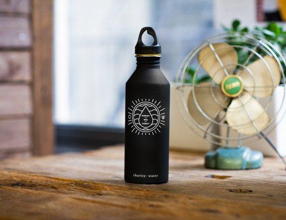 charity water bottle