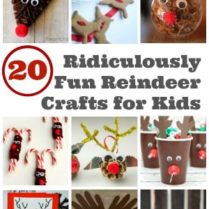 Reindeer Crafts for Kids - We love that trustworthy team of reindeers that pull Santa's sleigh. We've gathered up all the best reindeer crafts for kids to make this holiday season. Lots or Rudolph crafts. | Christmas Crafts for Kids | Rudolph Crafts |