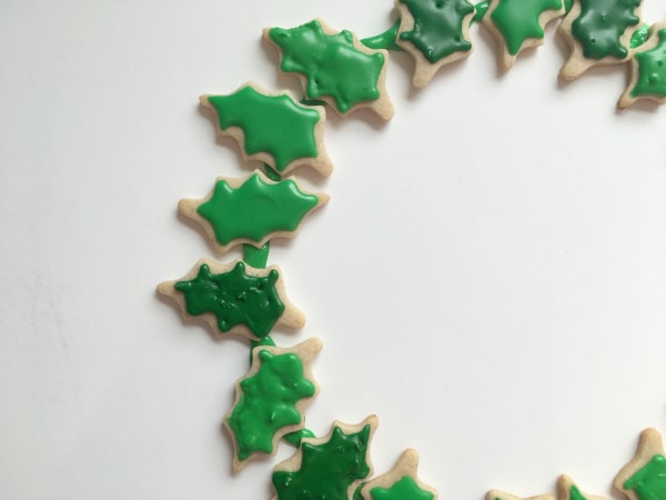 Christmas cookie wreath single layer