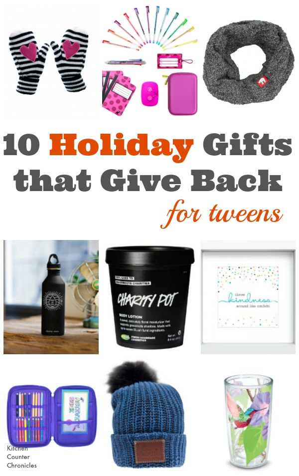 Holiday Gifts that Give Back for Tweens - A helpful gift guide filled with gifts that give back. Perfect to give to tweens or for tweens to give to their friends. | Holiday Gift Guide | Tween Gifts | Charity Gifts |