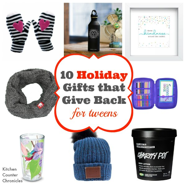 holiday gifts that give back for tweens social