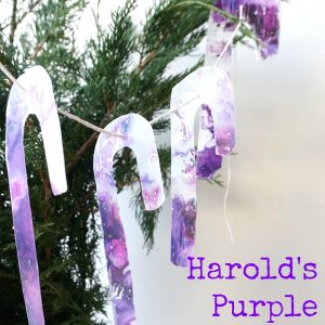 Harold's Purple Crayon Candy Canes