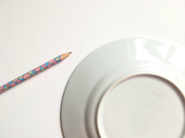 Pencil with Plate Christmas Wreath