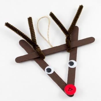 reindeer popsicle craft
