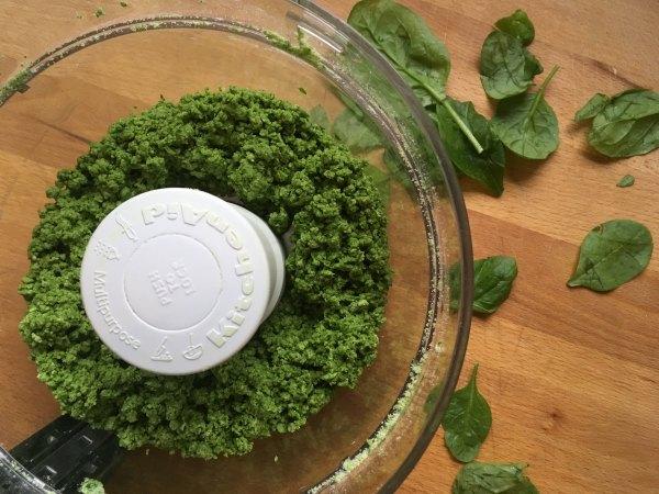 spinach pici in processor
