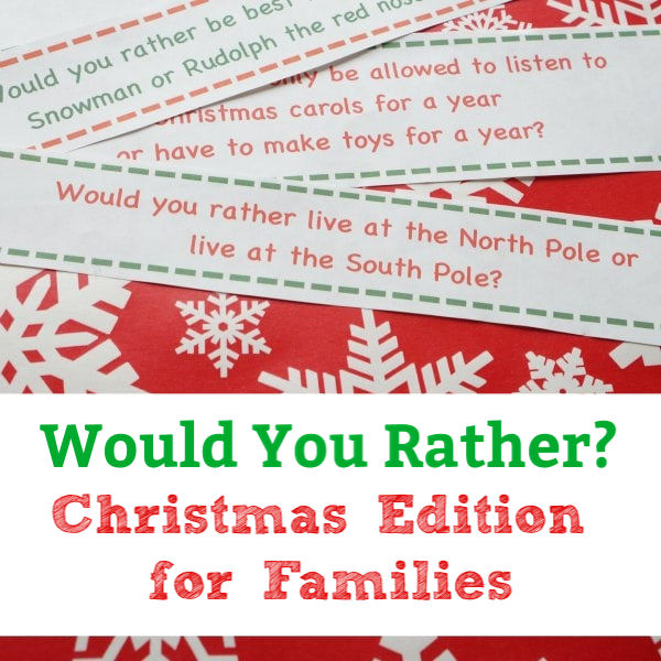 would you rather christmas game