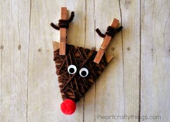 yarn wrapped reindeer craft