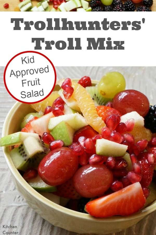 Trollhunters Troll Mix - A delicious kid approved fruit salad that will have your kids ready for Trollhunter adventures. Inspired by the new Netflix series by the same name. Think trail mix for Trollhunters. | Healthy Recipe for Kids | Vegetarian Recipe for Kids |