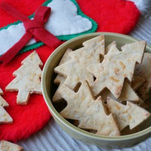 Cheddar and apple dog Christmas Cookies