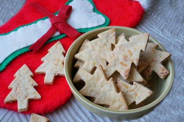 Cheddar and apple dog Christmas Cookies