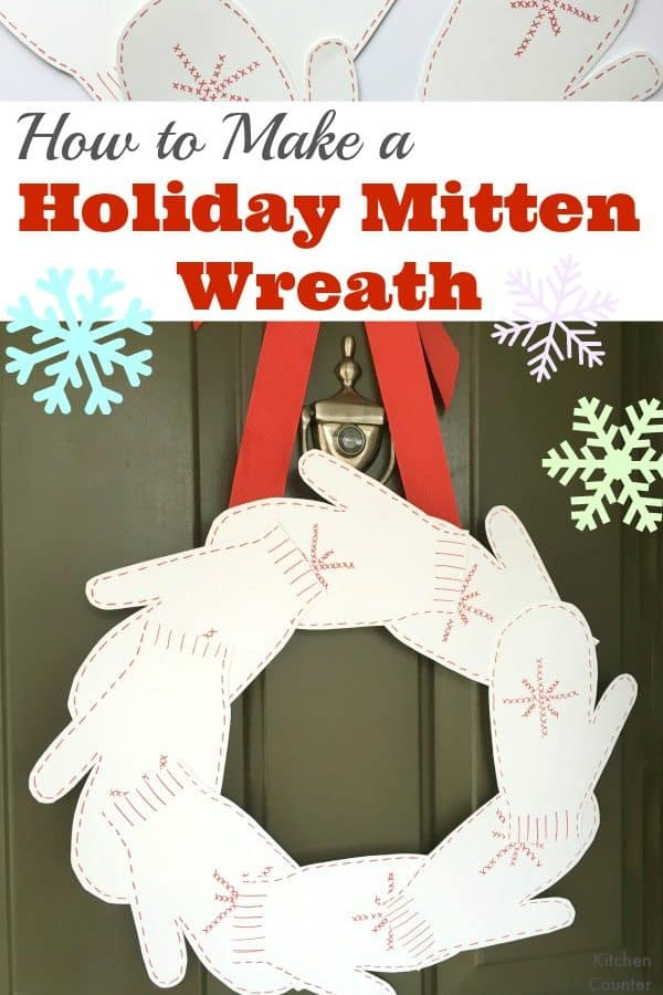 Make a Holiday Mitten Wreath